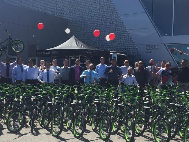 Audi Denver Builds Bikes Our Community Now At Colorado