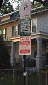 fake parking sign