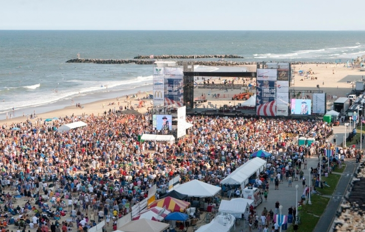 Outdoor concert on the beach